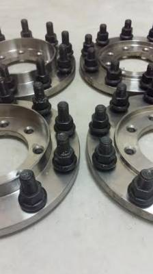 "Diamond T Enterprises - 10 Lug Dually Wheel Adapters, Dodge (1989-93) 3500 Dually (front & rear) (8 on 6.5""; 1/2"" stud)"