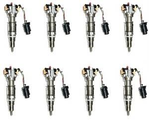Diamond T Enterprises - Fuel Injectors, Ford (2003-10) 6.0L Power Stroke, set of 8 (Stock)